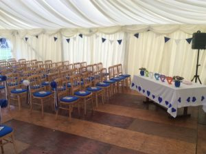 wedding Marquee internal